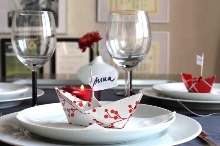 Оригами в оформлении свадьбы