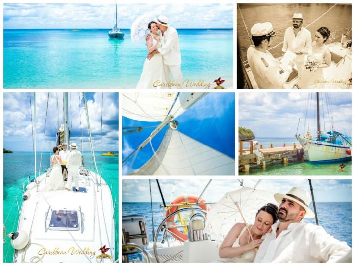 Свадьба на яхте от Caribbean Wedding