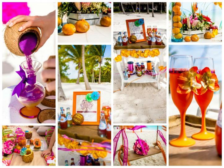 Тропическая свадьба в апельсиновом цвете