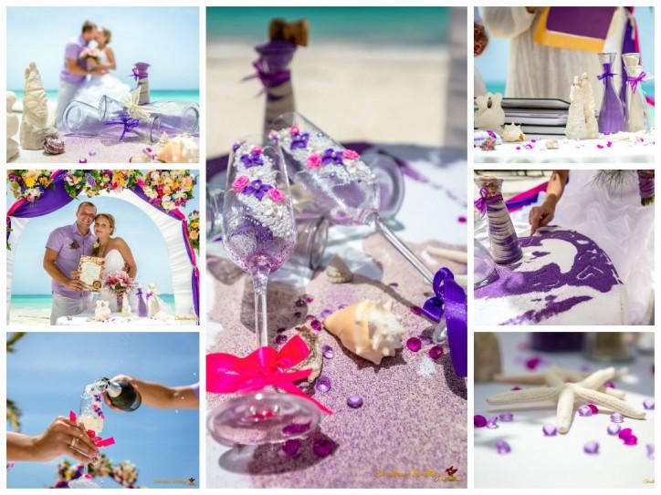 Оригинальное оформление свадебной церемонии на пляже – Читать далее