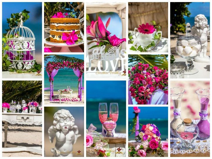 Свадебный декор в стиле шебби шик от Caribbean Wedding!