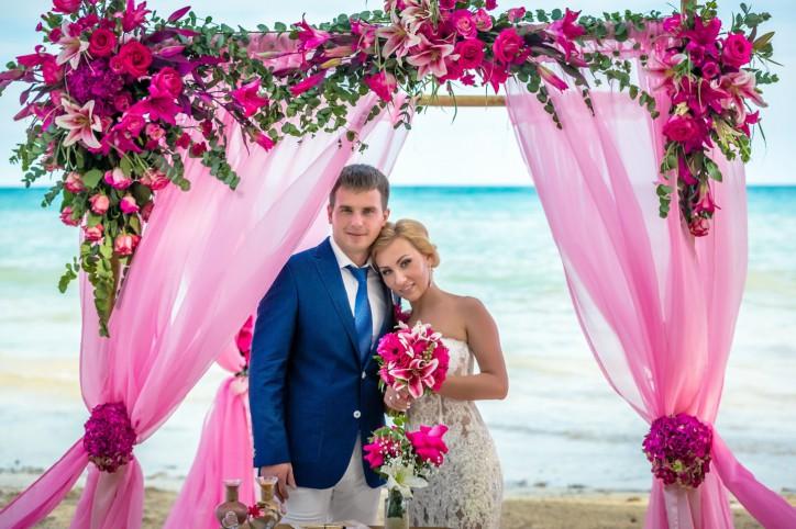 VIP Свадьба в Доминикане в стиле Shabby Chic {Варвара+Евгений}