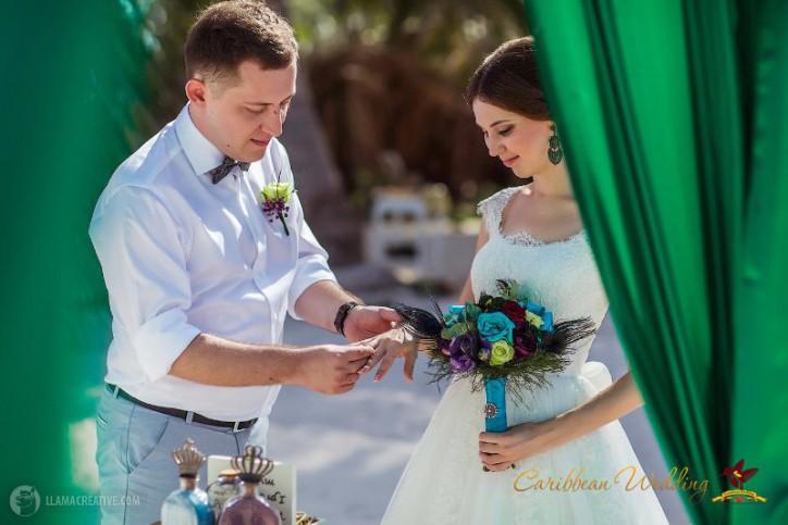 Peacock wedding в Доминиканской республике {Саша и Настя}
