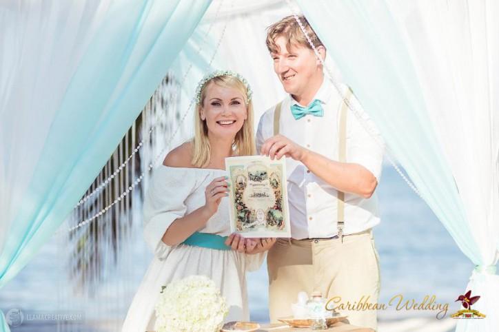 VIP Свадьба в Доминикане в стиле Тиффани {Любочка и Юрочка}