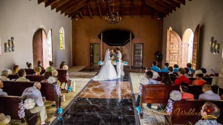 Свадьба в католической церкви Кап Кана, Мэтью и Стефани