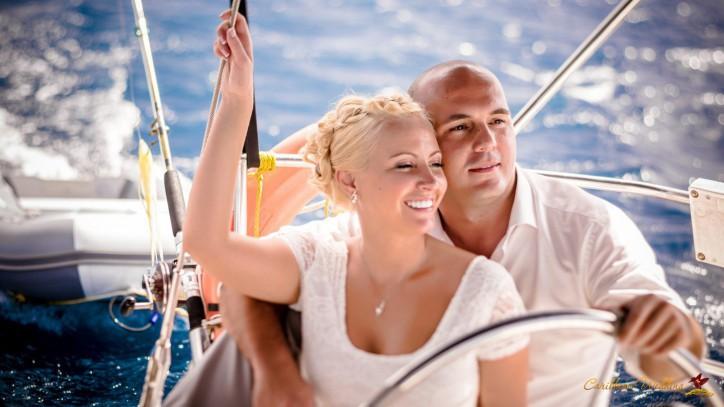 VIP Свадьба под парусами на яхте. Остров Каталина, Доминиканская Республика {Стас и Анна}