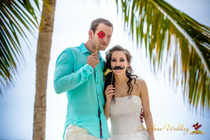 VIP Свадьба в Доминиканской Республике на пляже в Кап Кане {Августина и Андрей}