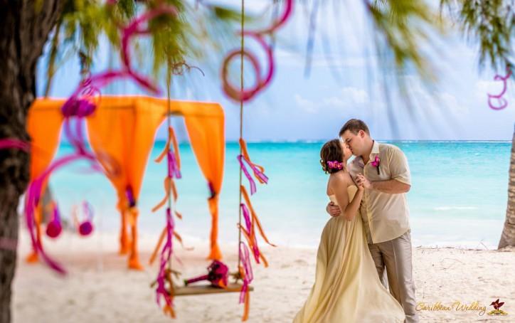VIP Свадьба в Тропическом Стиле в Доминиканской Республике на пляже в Кап Кане {Наталия и Андрей}
