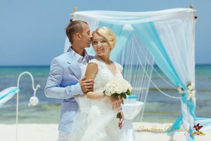 Свадьба в стиле Тиффани (Tiffany wedding) в Доминикане {Олеся и Александр}